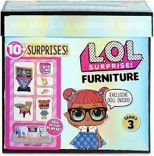 LOL Surprise - Furniture Packs פלייסט וערכת ריהוט עם בובה LOL