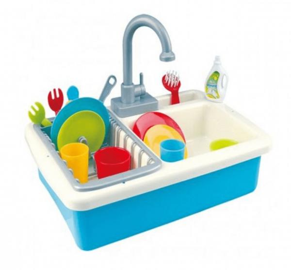 כיור מטבח מאובזר לשטיפת כלים