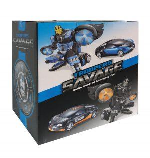 רובוטריק כחול למכונית ספורט עם שלט