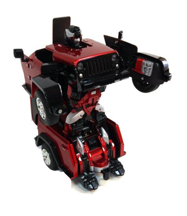 רובוטריק ג'יפ אדום עם שלט
