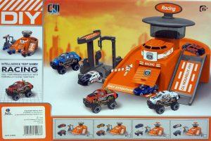 חניון מכוניות מרוץ 2 רכבים