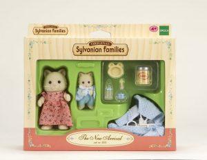 משפחת סילבניאן - ערכת אמא חתולה עם תינוק ואביזרים 2234