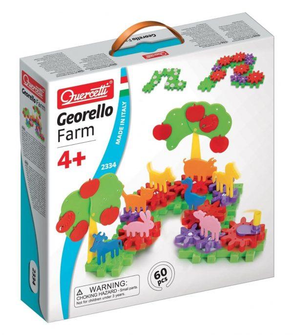 הרכבת חיות החווה על גלגלי שיניים צבעוניים- דגם 2334 - קווארצ'טי