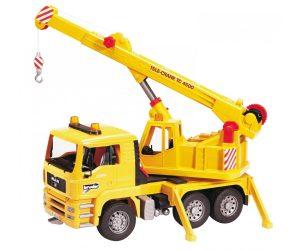 משאית צהובה עם מנוף - ברודר 02754