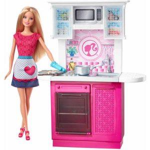 ברבי - סט מטבח עם בובת ברבי