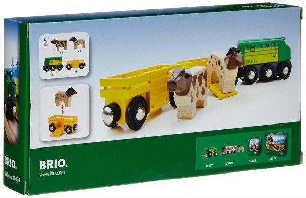 בריו רכבת חווה עם 2 חיות BRIO 33404