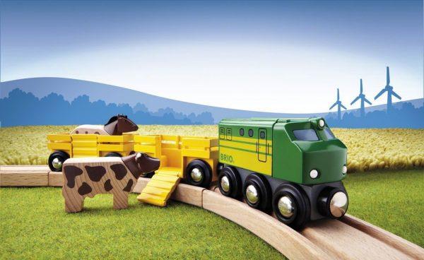 רכבת חווה עם 2 חיות BRIO 33404