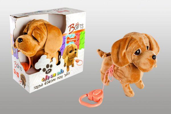 כלב עם רצועה פייפרס חום - נובח מכשכש בזב והולך