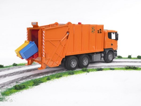 משאית זבל כתומה סקניה - ברודר