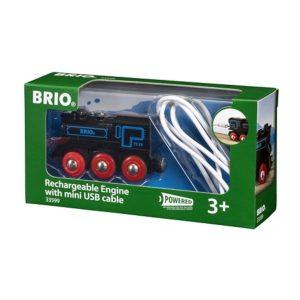 בריו קטר שחור נטען עם USB BRIO 33599