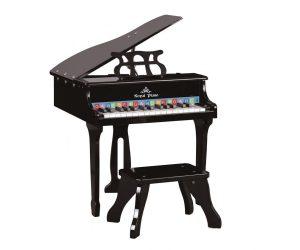 פסנתר עץ מלכותי רויאל בצבע שחור לילדים