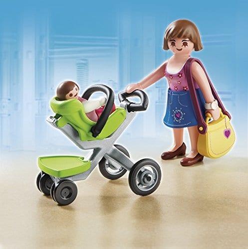 אמא ותינוק עם עגלה - פליימוביל החיים בעיר - 5491