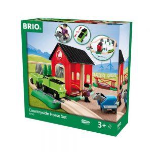 סט מסלול ואורוות סוסים 33790 BRIO