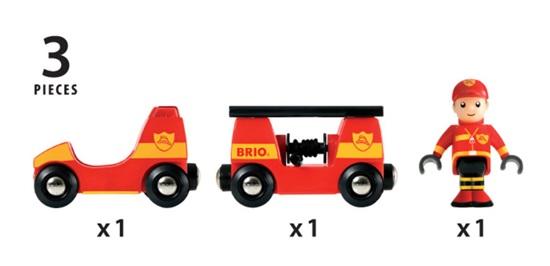 בריו רכבת כיבוי אש BRIO 33576
