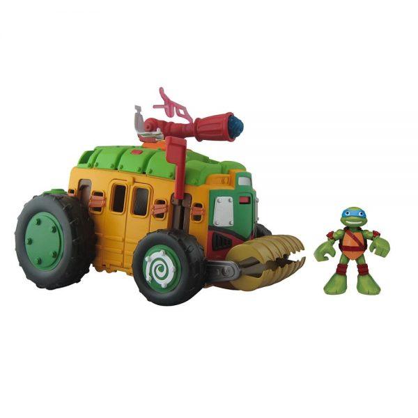 צבי הנינג'ה רכב משוריין עם דמות לאונרדו 6 ס