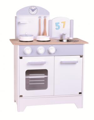 מטבח אפור לבן מעץ