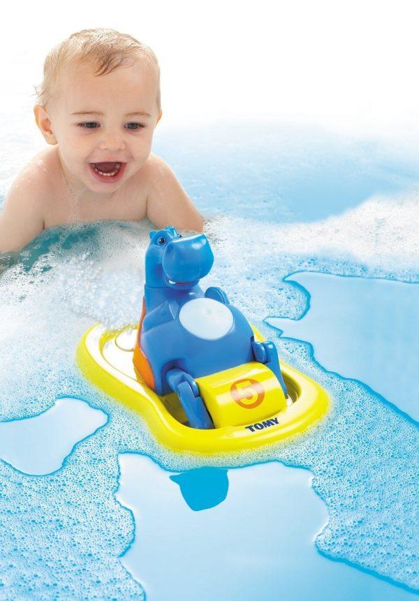 היפופוטם מפדל בסירת פדלים - צעצוע אמבטיה – טומי