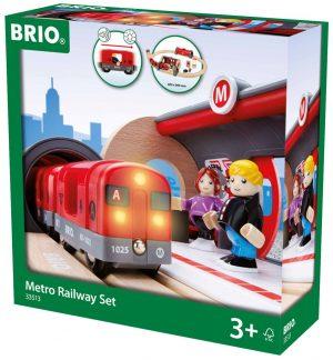 בריו רכבת מטרו עם אור וקול 33513 BRIO