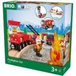 15812בריו סט הצלה רכבת כיבוי אש BRIO 33815