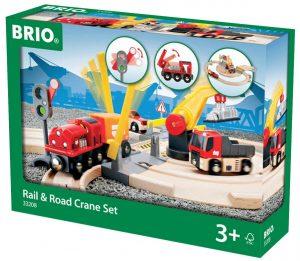 בריו מסילת רכבת ומנוף BRIO 33208