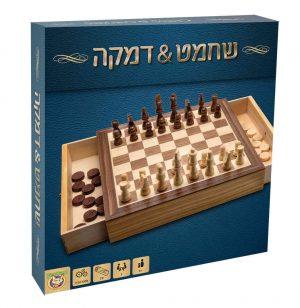 שחמט ודמקה מעץ - פוקסמיינד
