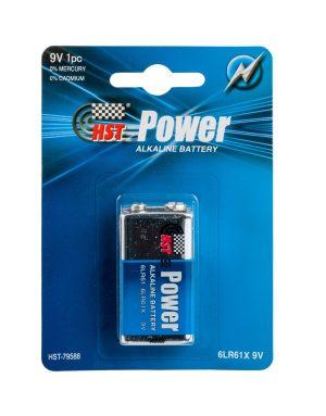 סוללה 9V אלקליין HST POWER מסוג 6LR61X / 9V