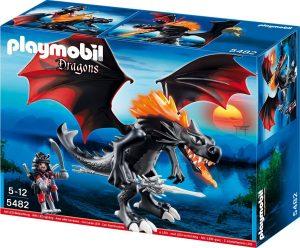 פליימוביל דרקונים - דרקון לד ענק עם להבות- 5482