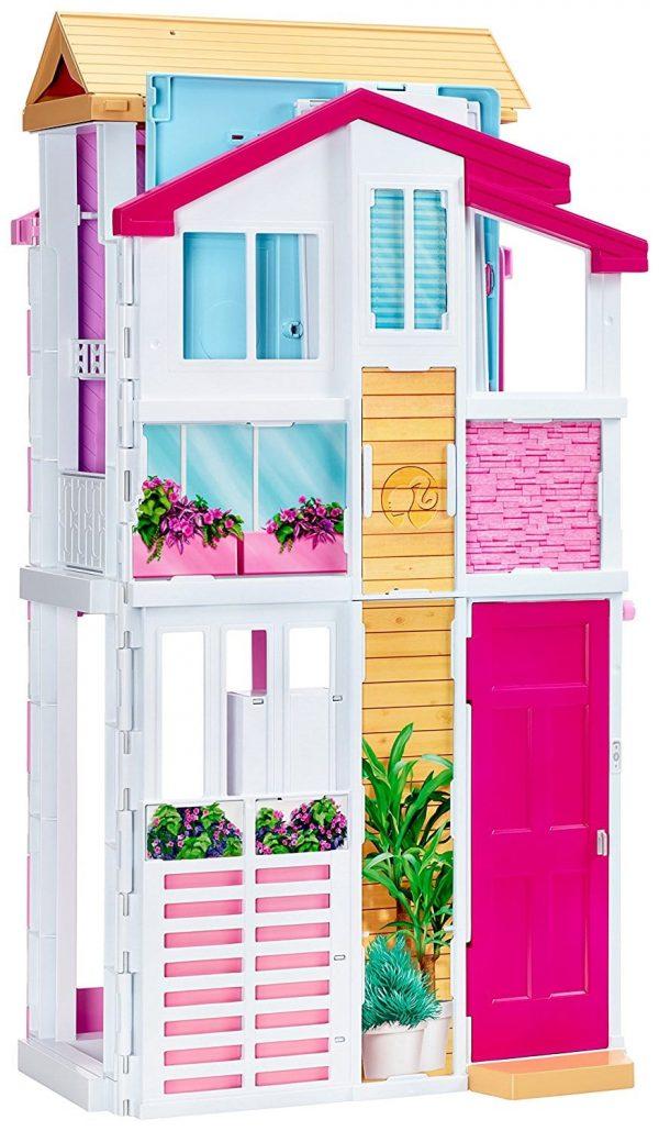 בית בובות ברבי מודרני 2 קומות וגג DLY32