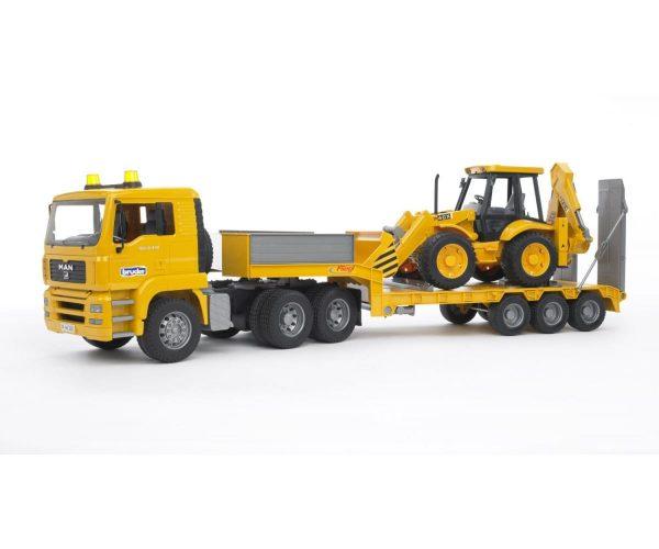 משאית גורר MAN עם טרקטור JCB - ברודר 02776