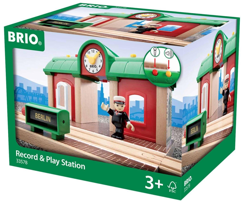15823בריו תחנת רכבת אור קול והקלטה BRIO 33578