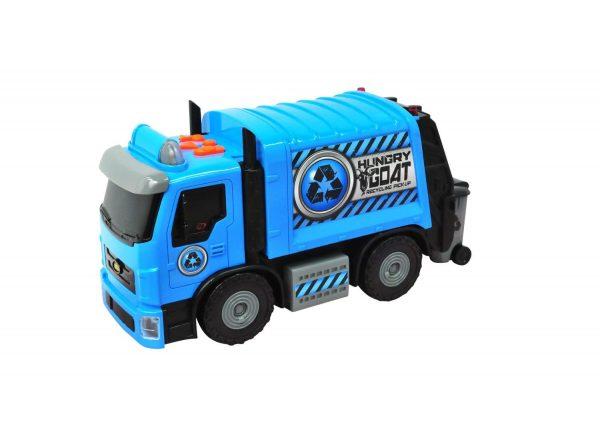 אוטו זבל תכול עם אורות וצלילים - Road Rippers 30282