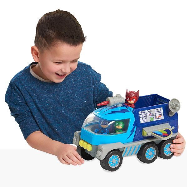 רכב מגה רובר עם משגר טילים + דמות של ילד חתול - כוח פי ג'יי PJ MASKS - חדש!