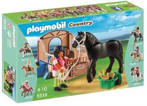 פליימוביל בכפר- רוכבת עם סוס שחור 5519