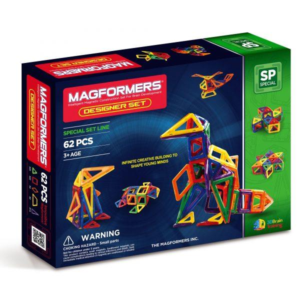 מגפורמרס 62 חלקים ערכת המעצב MAGFORMERS