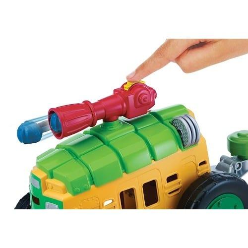 """צבי הנינג'ה רכב משוריין עם דמות לאונרדו 6 ס""""מ"""