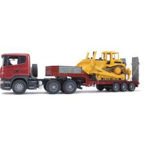 משאית מוביל סקניה עם בולדוזר D9 ברודר 03555