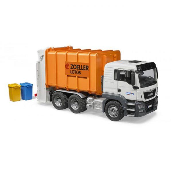 ברודר - משאית זבל כתום MAN TGS 3762