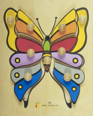 דורון לילד פאזל עץ - פרפר צבעוני