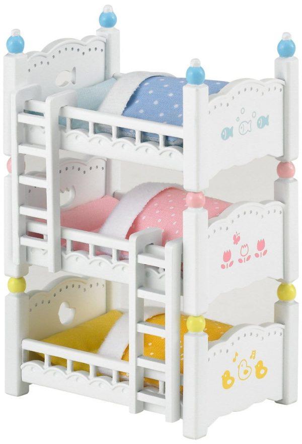 משפחת סילבניאן - מיטת ילדים שלוש קומות 2919