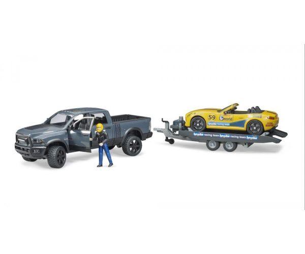 ברודר - פאוור וואגון + מכונית מירוץ על גרר