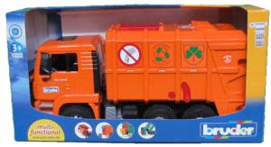 ברודר - משאית זבל Man כתום