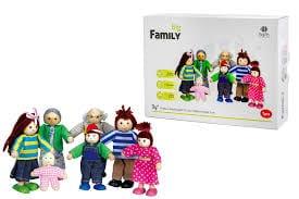 משפחת בובות מעץ