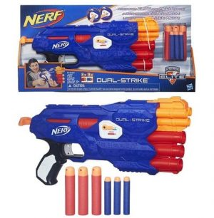 ELITE MEGA נרף רובה 2 סוגי חיצים NERF N STRIKE DOUBLE STRIKE B4620