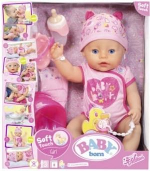 בייבי בורן - בובה אינטראקטיבית - בובה עם נגיעה רכה