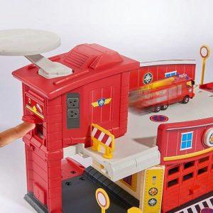 סמי הכבאי - מרכז חילוץ והצלה כולל מסוק ממתכת  Fireman Sam