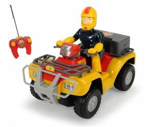 סמי הכבאי - טרקטורון (מרקורי) עם שלט רחוק Fireman Sam