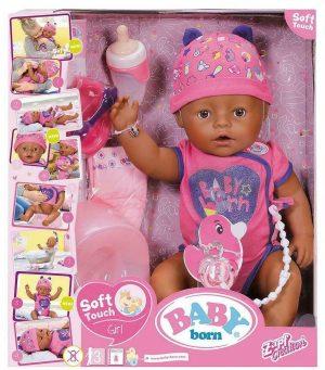 בייבי בורן - בובה אינטראקטיבית - בובה עם נגיעה רכה - בת - חדש!