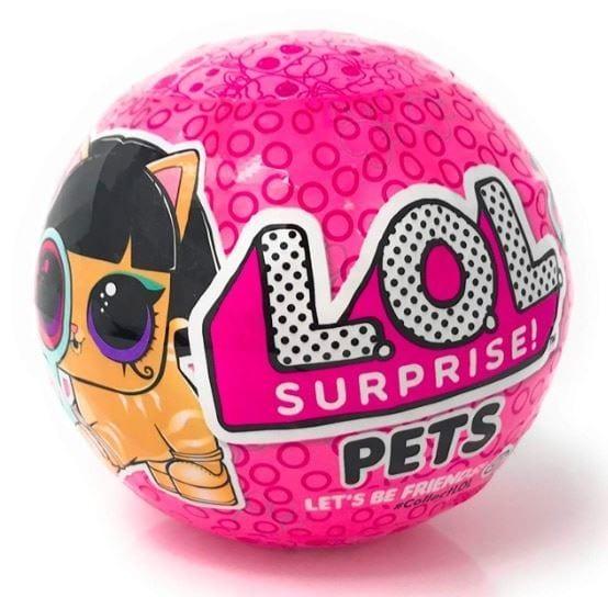כדור ההפתעות LOL Surprise חיות מחמד עם כתב הסתרים - סדרה 4 - חדש!!