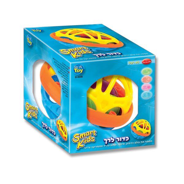 כדור לרך - כדור צבעוני עם צלילים לתינוקות - SMART KIDS