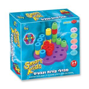 מגדלי צורות וצבעים - SMART KIDS
